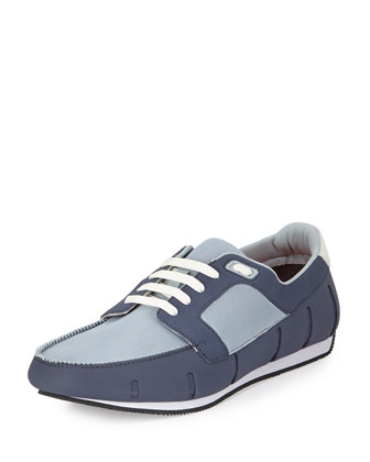 Water-Resistant Sneaker Loafer, Gray/Blue