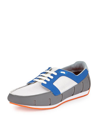 Mesh Sneaker Loafer, Gray/Blue