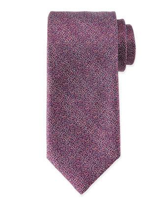 Melange Silk Tie, Pink