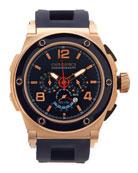 Regatta Yachting Edition Watch, IP Rose-Gold/Blue