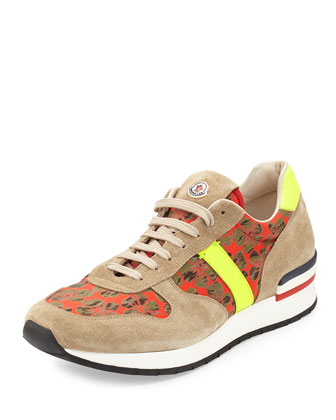 Montego Clover Suede Sneaker, Red/Brown