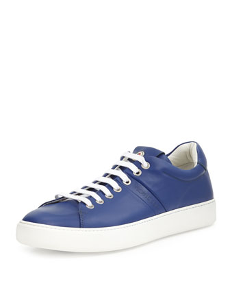 Vincent Low-Top Leather Sneaker, Blue