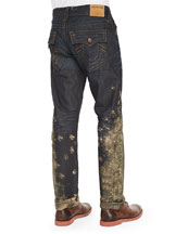 Ricky Mud Splash Jeans, Dark Blue