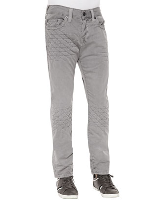 Dean Gray Geo-Quilted Patch Jeans