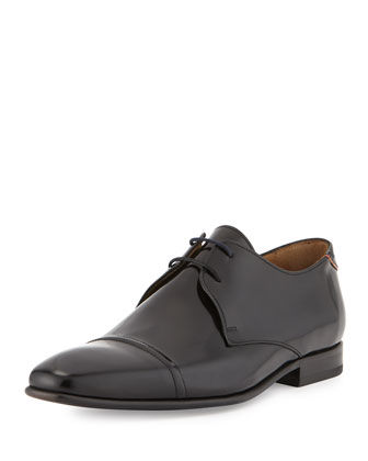Robin High Shine Oxford Shoe, Black