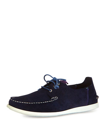 Dagama Boat Shoe, Blue