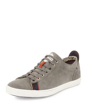 Vestri Piombo Suede Sneaker, Gray