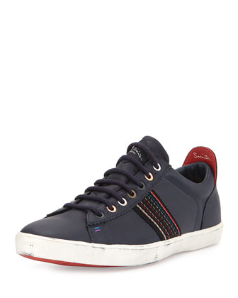 Monolux Striped Sneaker, Navy