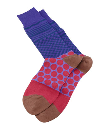 Polk Duo Stripe Men's Socks, Purple