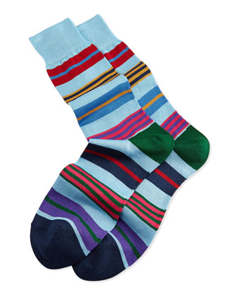 Humbug Stripe Socks, Multi