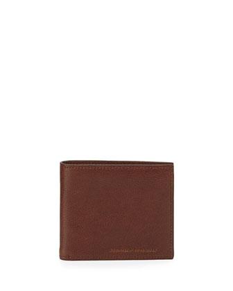 Large Leather Bi-Fold Wallet, Brown