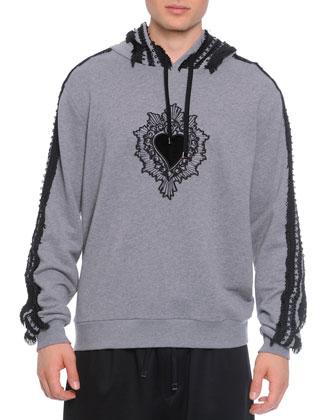Passementerie Hooded Sweatshirt & Cotton-Blend Sweat Shorts