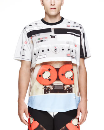 Speaker-Print T-Shirt, Orange/Multi