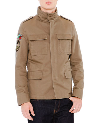 Field Jacket with Camo Lining, Khaki
