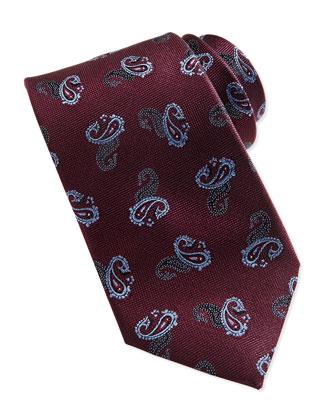 Dark Paisley Pine Tie