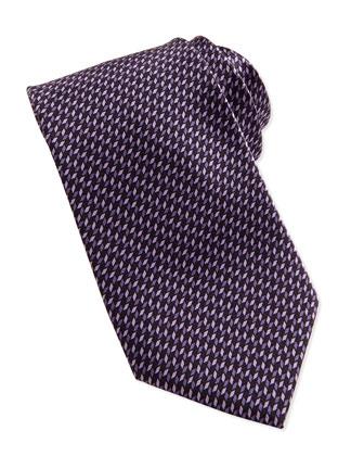Micro 3D-Diamonds Tie, Violet