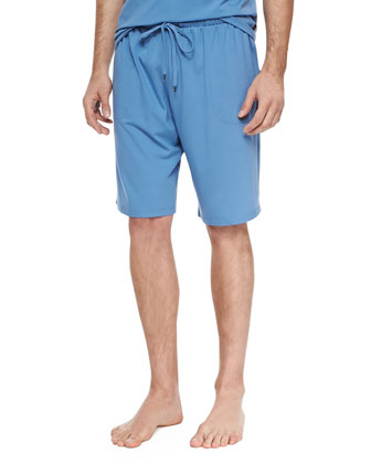 Basel Jersey Lounge Shorts, Blue