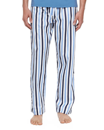 Windsor Striped Pajama Pants, Blue
