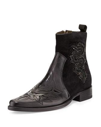 Jestin Beaded-Snake Chelsea Boot