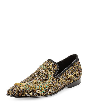 Pascow Beaded Alligator Loafer