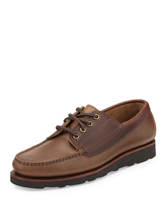 Bremen Leather Moc Oxford, Brown