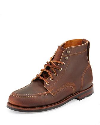 Sawyer USA Leather Boots, Chestnut