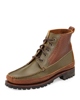 Kennebunk USA Two-Tone Leather Boot