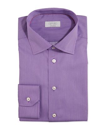 Fine-Stripe Dress Shirt, Purple