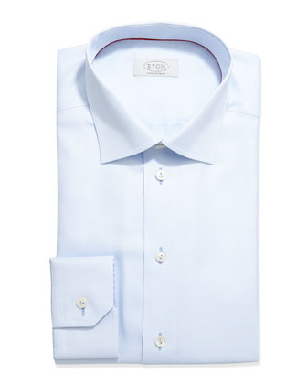 Contemporary-Fit Tonal Textured Dress Shirt, Pale Blue