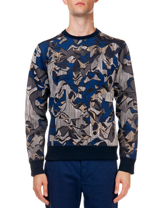 Multi-Print Crewneck Sweater & Men's Poplin Pants with Tiger Detail