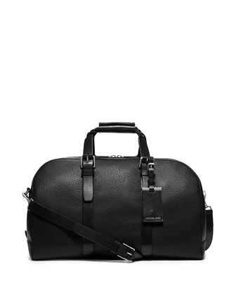 Braided-Handle Duffel Bag, Black