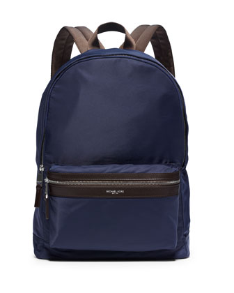 Lightweight Nylon Backpack, Indigo