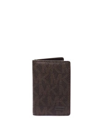 Logo-Print Bifold Wallet, Brown