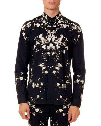 Baby's Breath Printed Shirt, Black