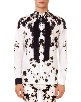 Floral-Printed Shirt, White
