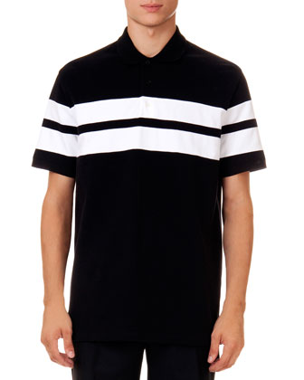 Double-Stripe Polo Shirt