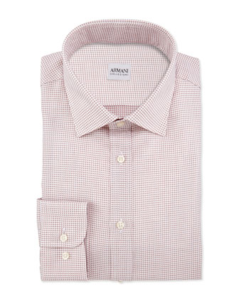 Textured Neat Dress Shirt, Pink