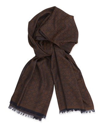 Men's Gancini Scarf, Brown