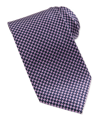 Linked Ovals Neat Tie, Purple