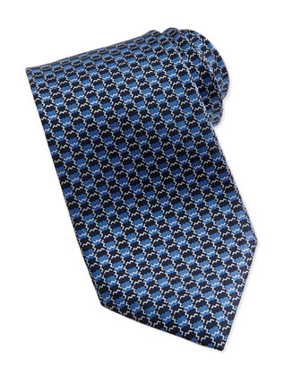 Aztec Box Neat Tie, Blue