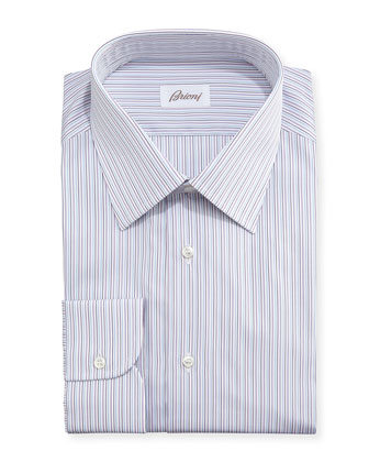 Striped Cotton Shirt, Purple