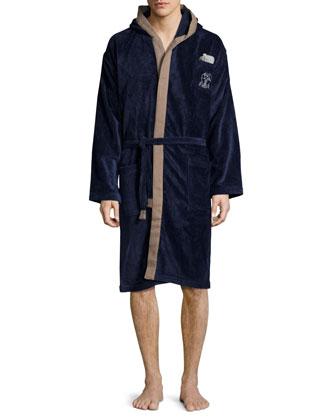 Men's Cotton Spa Robe, Gray