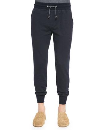 Spa Zip-Front Hoodie & Cotton Crewneck Tee & Woven Drawstring Spa Pants ...