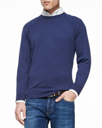 Felpa Cashmere Long-Sleeve Sweater, Button-Down Slim-Spread Collar Shirt & ...