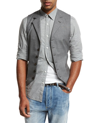 Shawl-Collar Chunky Cardigan,6-Button Wool Waistcoat, Button-Down-Collar ...