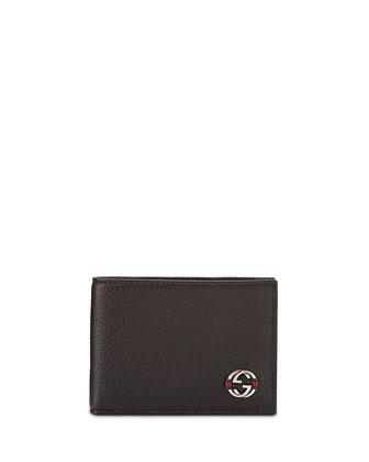 Ace Mini Leather Wallet, Black