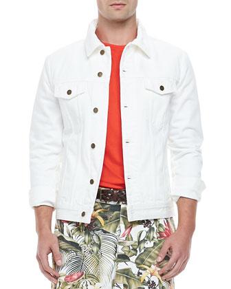 Jean Jacket, White