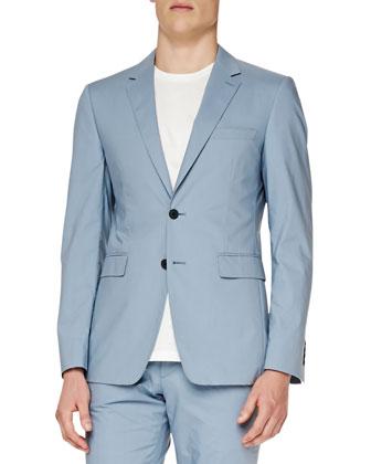 Modern-Fit Cotton Jacket, Blue