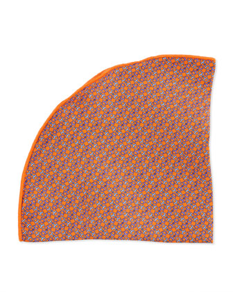Horsebit-Print Pocket Circle, Orange