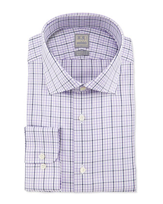Check Woven Dress Shirt, Lavender